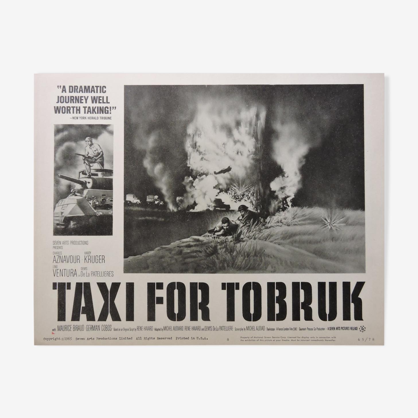 "Affiche ""Taxi for Tobruk"""