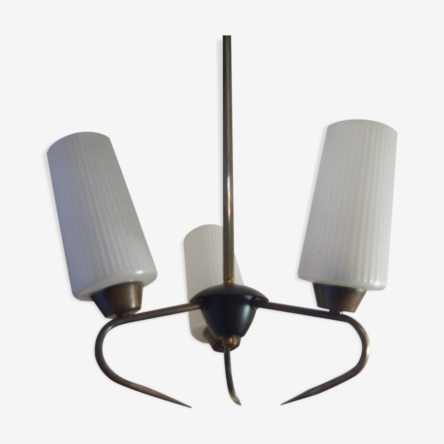 Lustre 3 lampes seventies