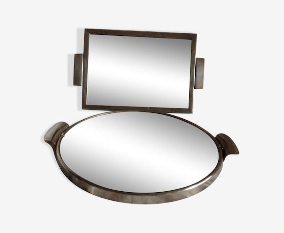Duo de miroirs plateaux art déco