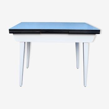 table de cuisine formica bois mat riau vert vintage iouqmsy. Black Bedroom Furniture Sets. Home Design Ideas