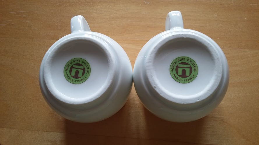 Pair of Auteuil China Cup
