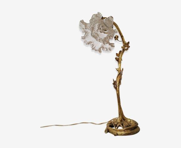 Lampe Ancienne Art Nouveau En Bronze Bronze Doré