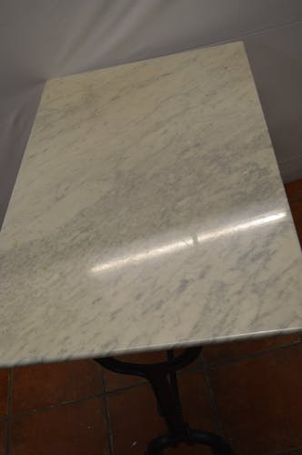Bistro table with a marble tray