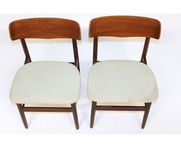 2 chaises scandinave, Danemark, 1960
