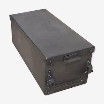 coffre fort fichet ancien safe old antique m tal industriel 110513. Black Bedroom Furniture Sets. Home Design Ideas