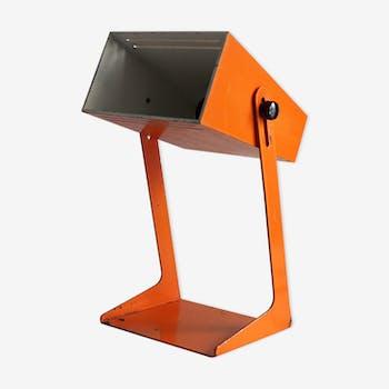Lampe en métal orange années 70