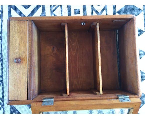 Old glass medicine cabinet