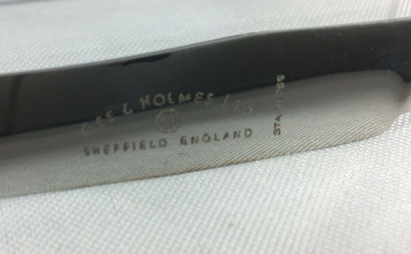 Lot couteaux anglais 1900 modele Louis XV coquille epns sheffield poinçon