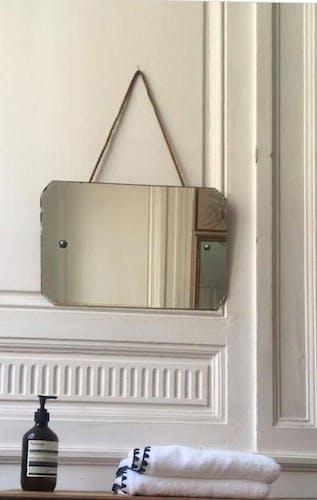 Miroir style barbier à suspendre - 45x30cm