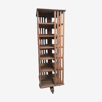 Bibliothèque tournante chene 190 cm