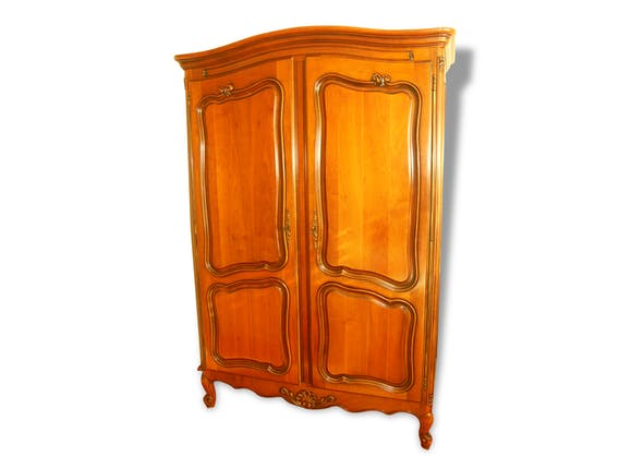 armoire penderie 2 portes en merisier massif 196 133 5. Black Bedroom Furniture Sets. Home Design Ideas