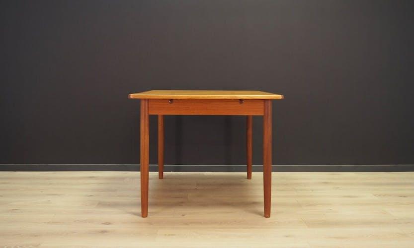 Table en teck classique danoise design 60 / 70