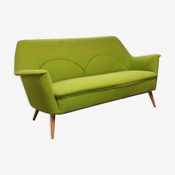 canap danois en forme de banane tissu vert vintage w305lwv. Black Bedroom Furniture Sets. Home Design Ideas