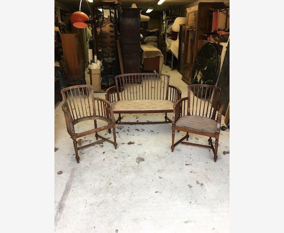 Joli salon 1900 - bois (Matériau) - marron - classique - 163089