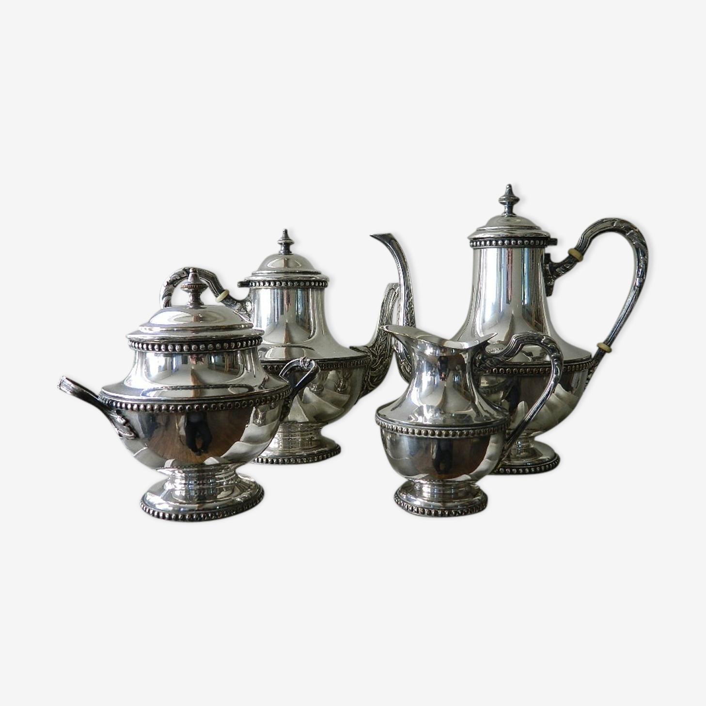 Service à thé/café métal argenté
