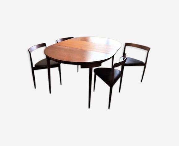 Table de salle à manger teck vintage - Frem Rojle avec 4 ...