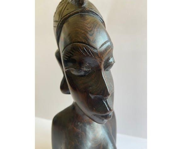 Buste africain en bois