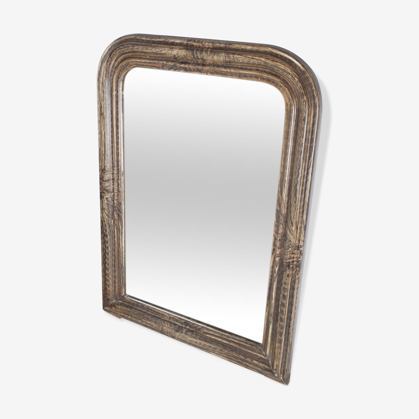 Ancien miroir style Louis-Philippe 58 x 42,5 cm