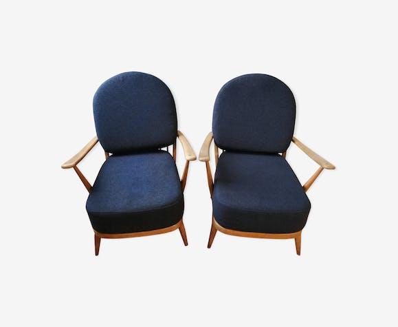 Paire de fauteuils windsor ercol vintage model 203