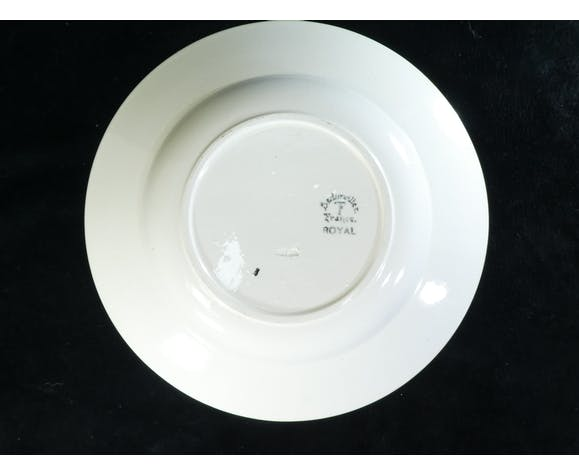 12 assiettes creuses badonviller modele royal no digoin