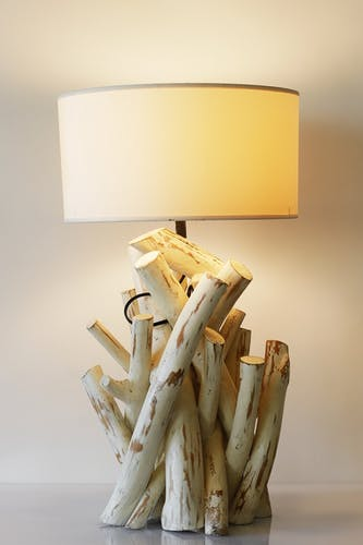 Wooden boudoir lamp, Germany, 80