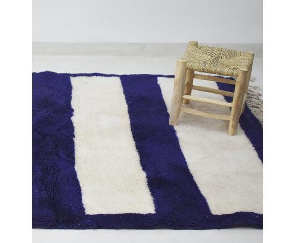 Tapis berbere bleu 200 x 140cm