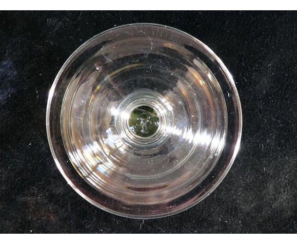 Set de 6 coupes a champagne a gradin en verre soufflé verre de bistrot