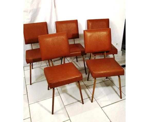 Chairs 50s brass feet