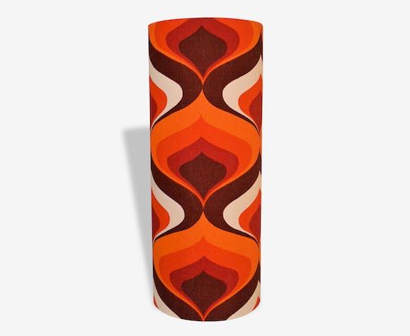 Abat Jour Vintage.Abat Jour Tissu Vintage Annees 70 Lagoutte Fabric Orange