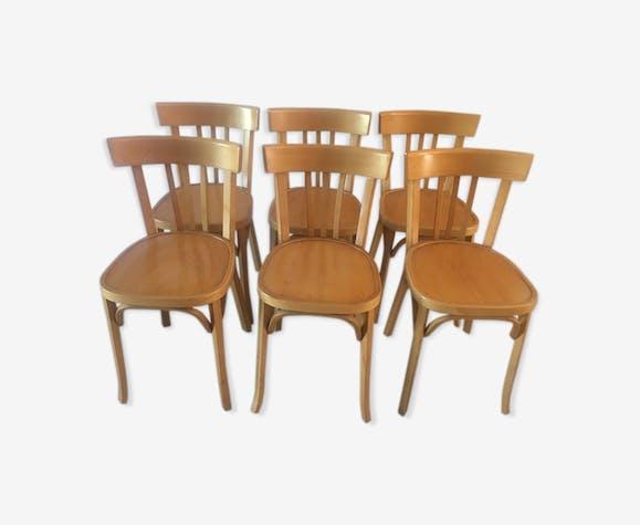 6 chaises Baumann de bistrot