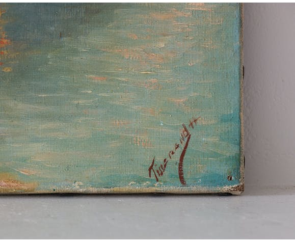 """Peinture """"le lac de montagne"""""""