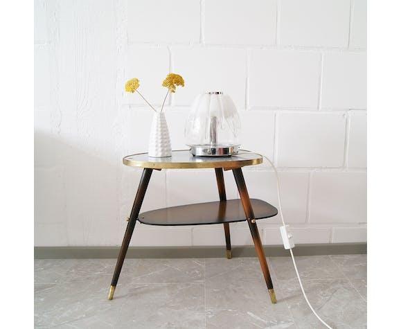 Lampe de table verre de Murano italienne chrome