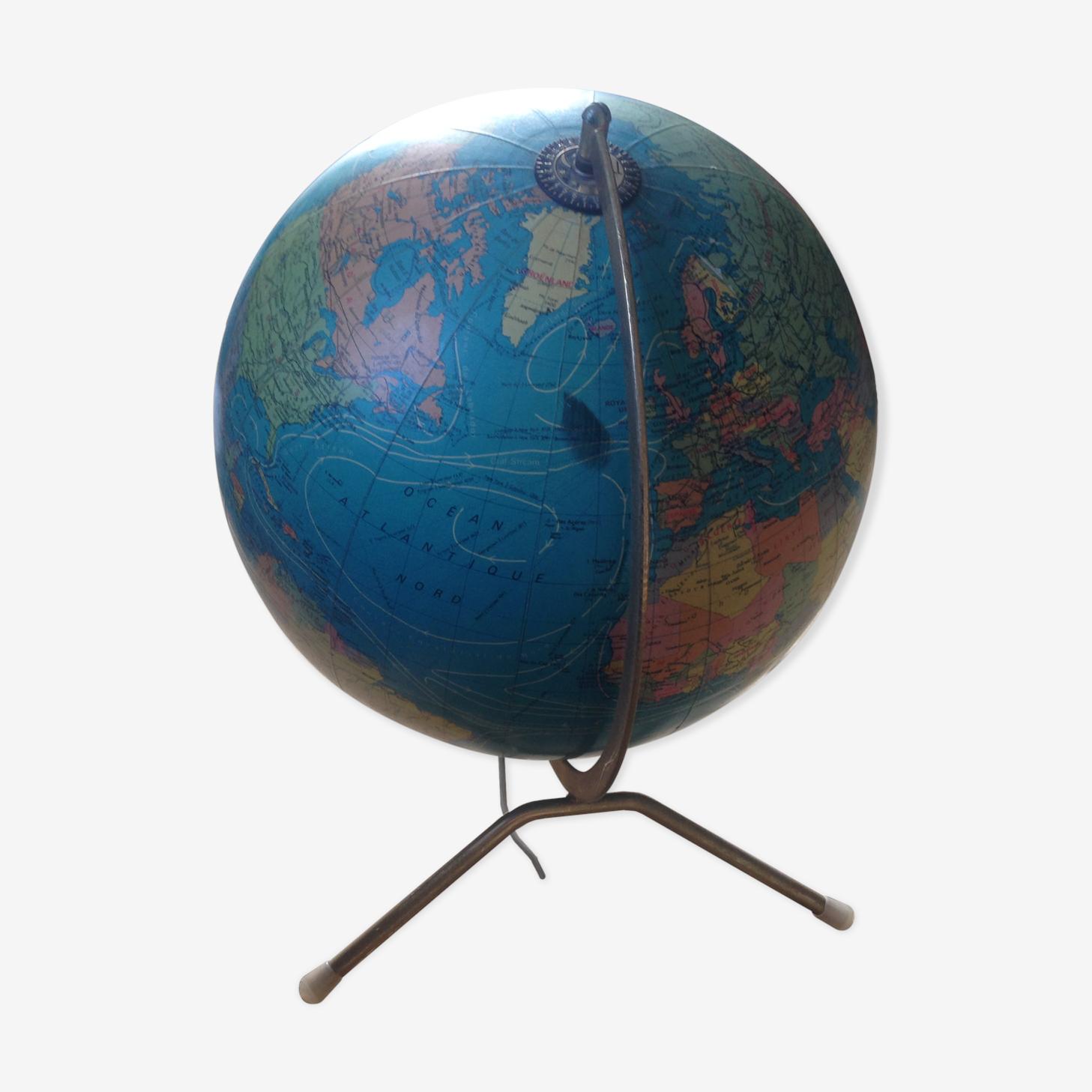 Map monde vintage