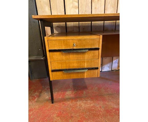 Bureau vintage des années 1950 en bois