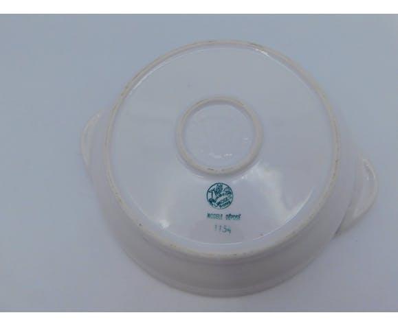 Assiette chauffante pour bébé Singer porcelaine de Limoges