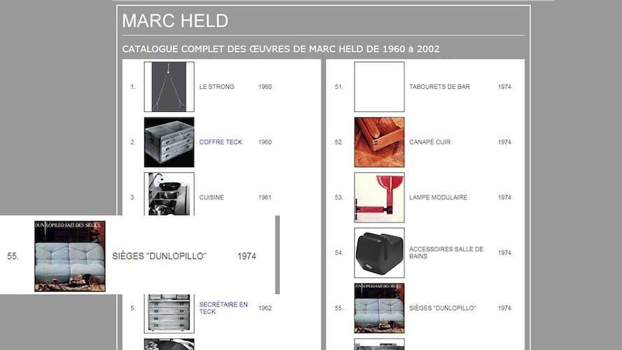 Paire de chauffeuses Marc Held pour Atelier Dunlopillo 1974