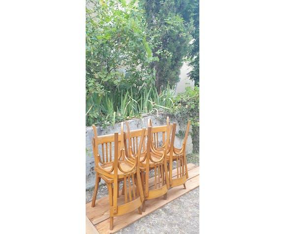 Suite de six chaises bistrot Baumann