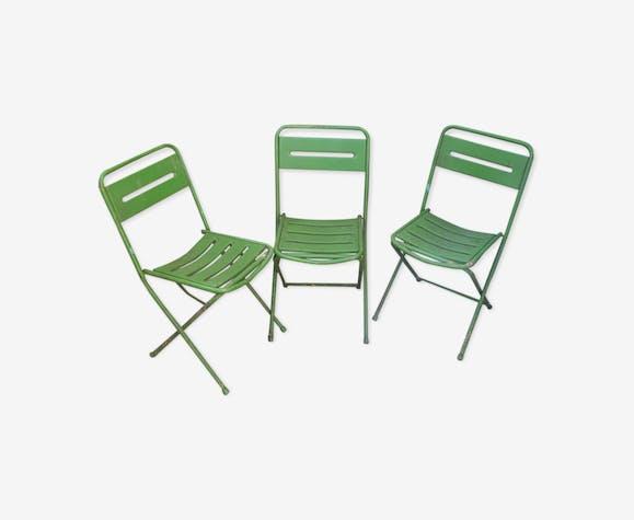 Set de 3 chaises pliantes