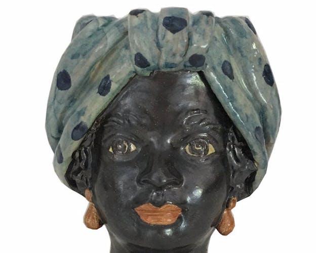 Vase tête mini pois femme