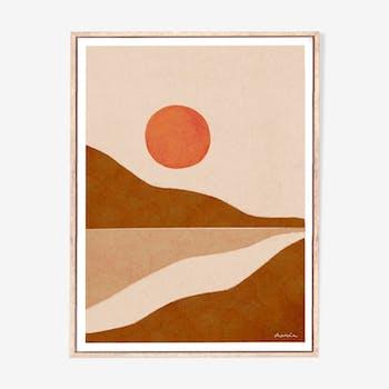 Illustration sunrise A3
