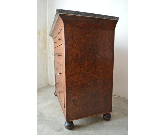 Charles X Cchest of drawers in Cedar Magnifier circa 1830