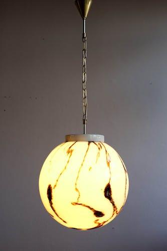 Czechoslovak hanging lamp by Kamenický Šenov, 1960s