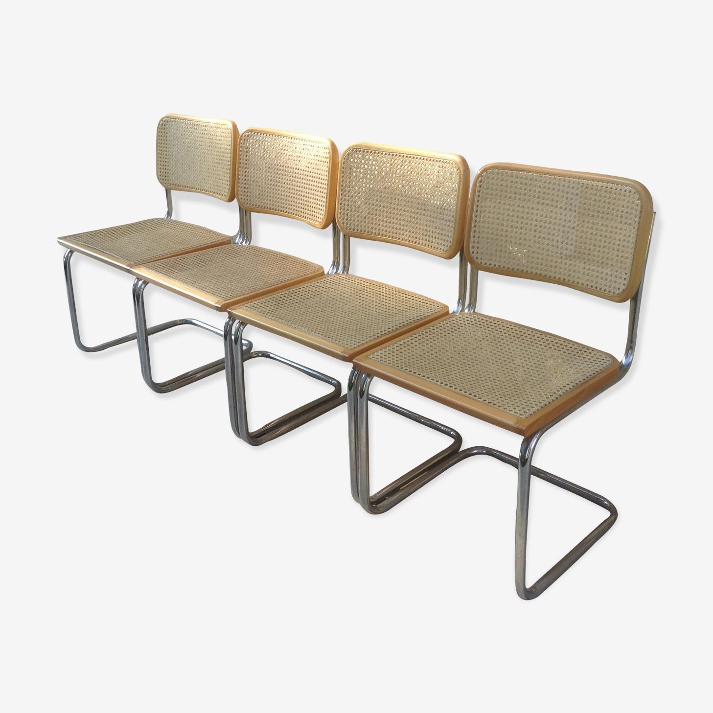 Suite de 4 chaises par Marcel Breuer