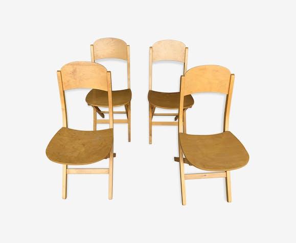 4 chaises pliantes des années 60