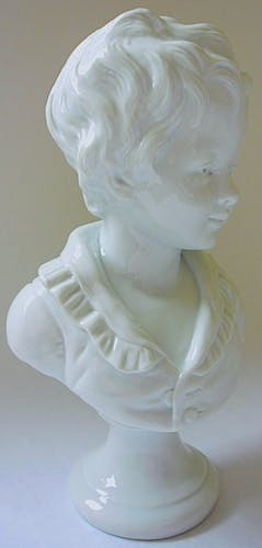 Porcelain bust of Alexandre Brongniart by Houdon