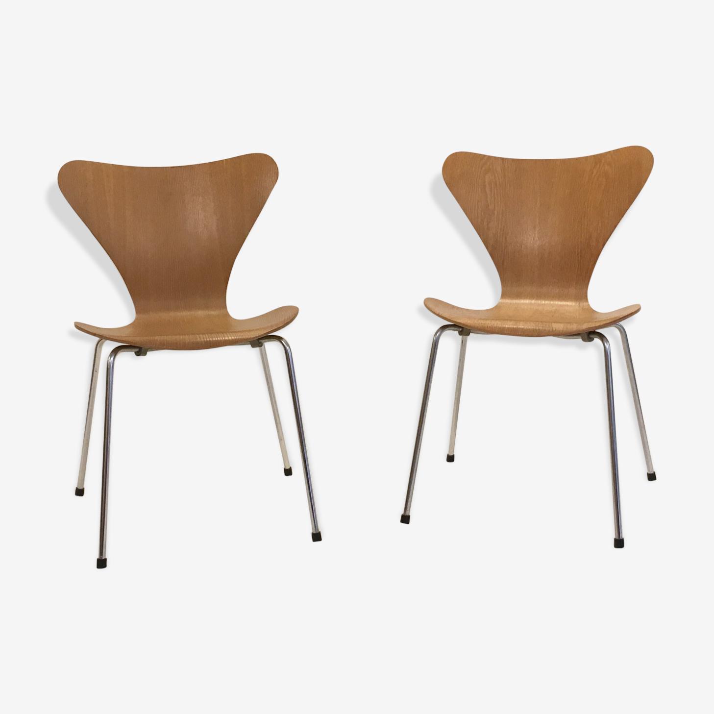 Paire de chaises en teck par Arne Jacobsen