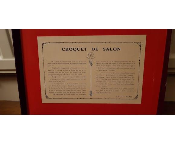 Ancien jeu de croquet de salon en bois