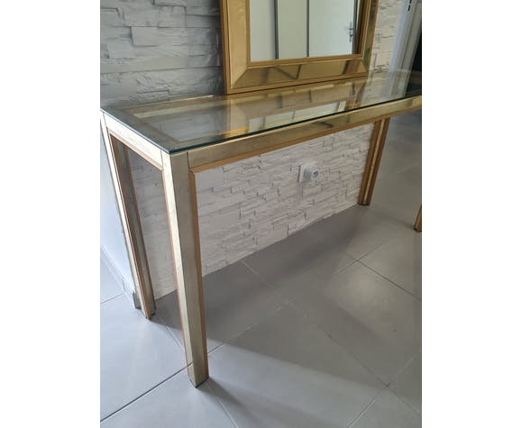 Console+miroir Renato Zevi pour Roméo Rega