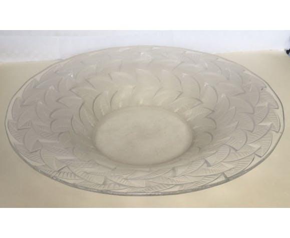 Plat en cristal Art Déco Lalique