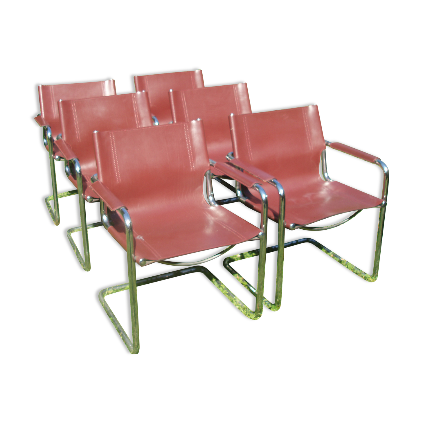 Set Of 6 Chairs By Matteo Grassi